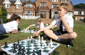 Chess club on the lawns