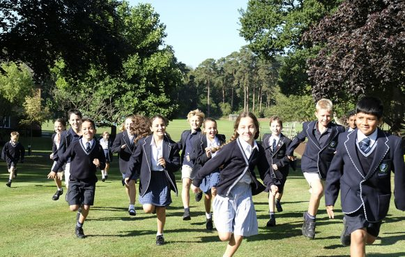 Feltonfleet Preparatory School pupils running