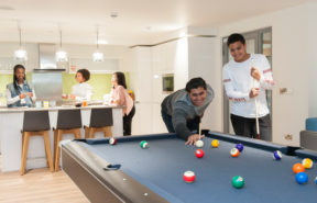 128-acre campus with state-of-the-art sports, pool tables