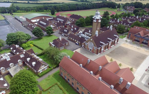 Aerial view of Duke of York's Royal Military School