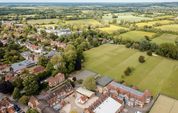 Dragon School aerial view