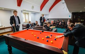 Common room pool table