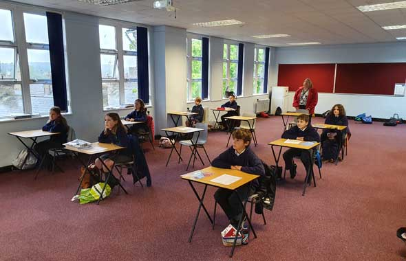 Stamford pupils back in the classroom